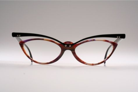 ccbbd0f8d36b Unusual top line cat eye eyeglasses by TRACTION PRODUCTIONS Mod. TCHANG  K6W