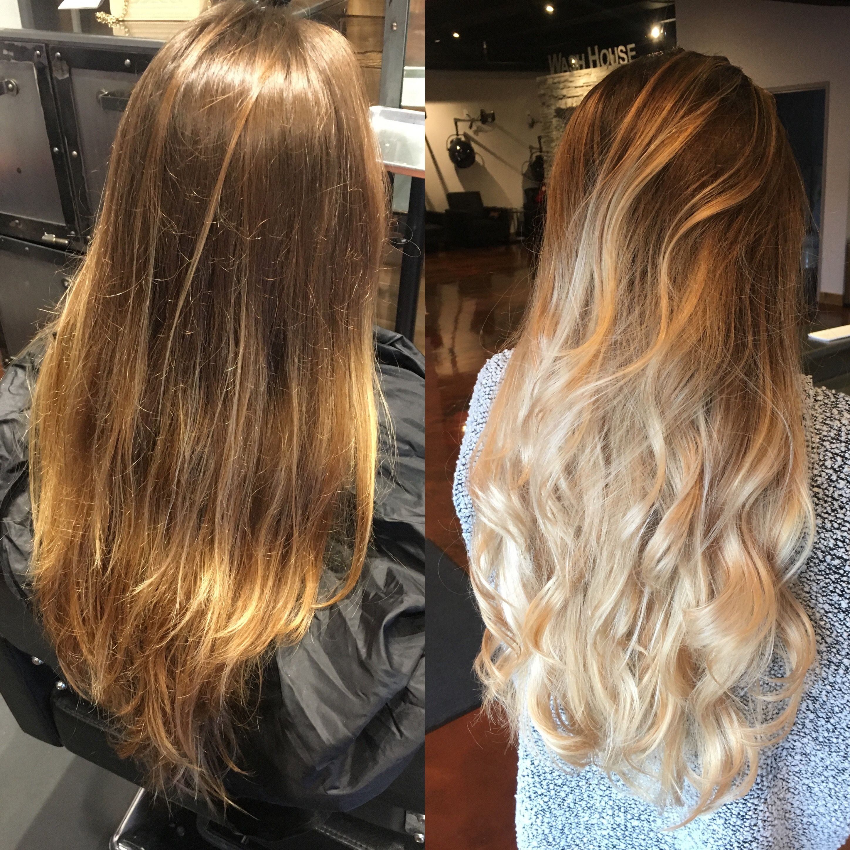 Natural Brown To Platinum Blonde Ombr By Cheyenne Daniels In