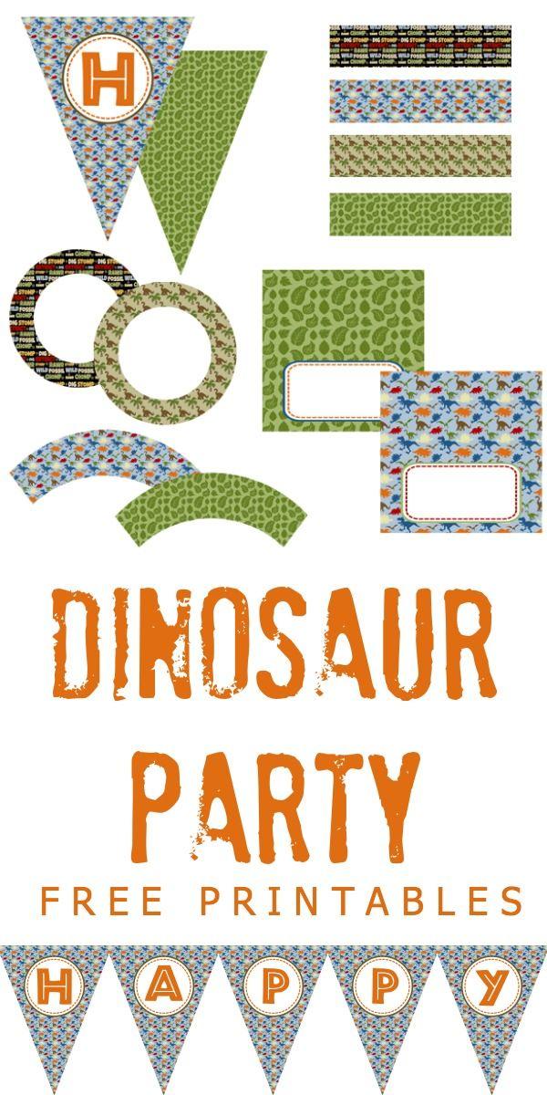 dinosaur party free printables | dinosaur party ideas | pinterest, Birthday invitations