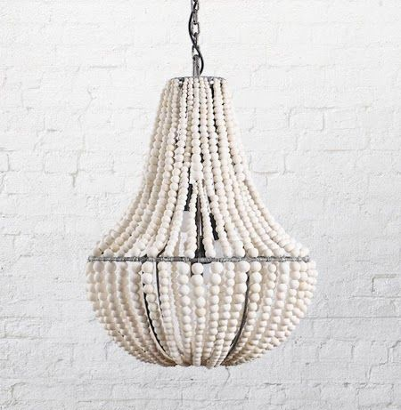 Natural modern interiors klaylife clay beaded chandelier lighting medium with each clay bead hand rolled kiln fired then dip dyed before being strung onto a wrought iron frame this minimal clay beaded chandelier is mozeypictures Image collections
