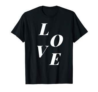 Love With Large Scattered Letters Mens Tops T Shirt Shirts