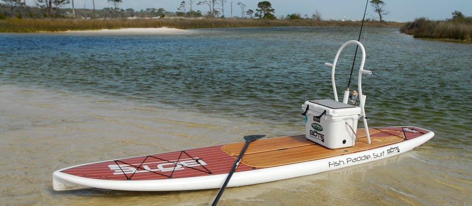 Bote hd fishing paddle board with yeti cooler and axe for Fly fishing paddle board