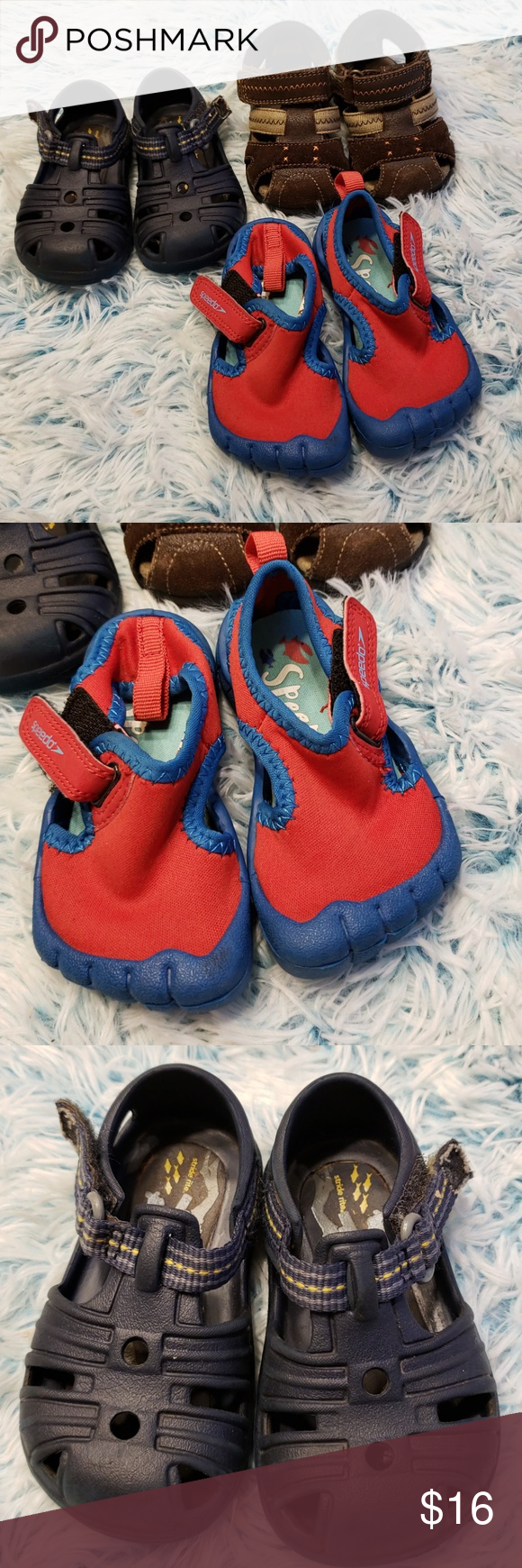 Baby Boy Size 4/5 Summer Shoes 3 pairs of summer shoes for ...