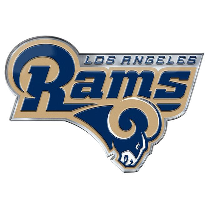 Los Angeles Rams Auto Emblem Color Alternate Logo  a1fc34ced0a