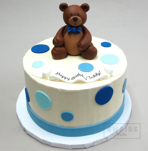 Outstanding Teddy Bear W Bow Tie With Images Teddy Bear Cakes Boys First Personalised Birthday Cards Epsylily Jamesorg