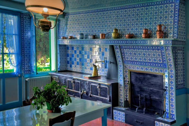 Kitchen Claude Monet House At Giverny France Artist House Giverny Giverny France