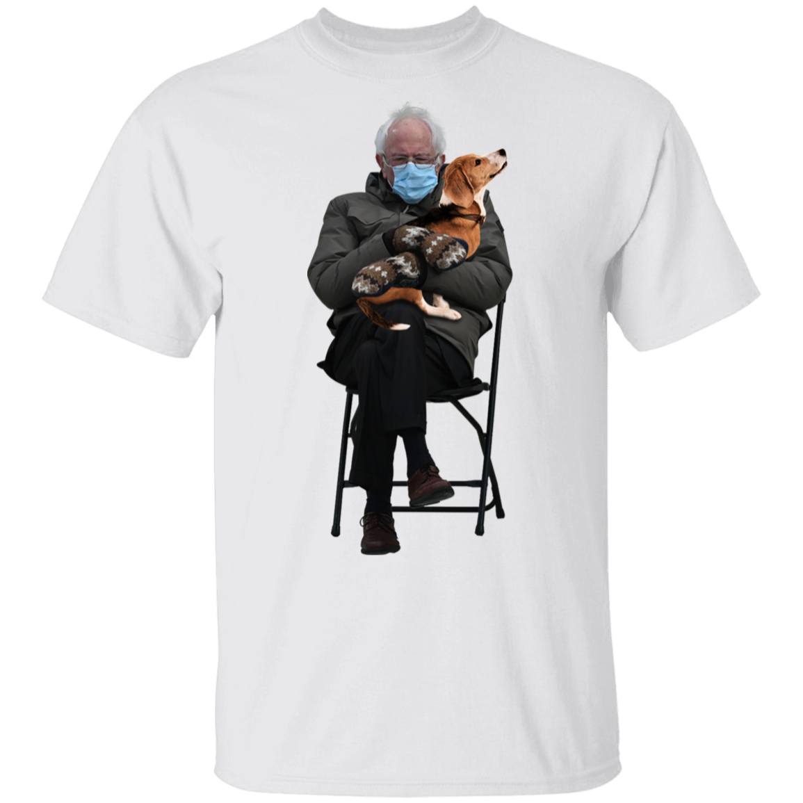 Bernie Meme And Beagle Shirt Funny Chairman Sanders Buy Bernie Sanders Merchandise In 2021 Printed Shirts Shirts Bernie Shirt