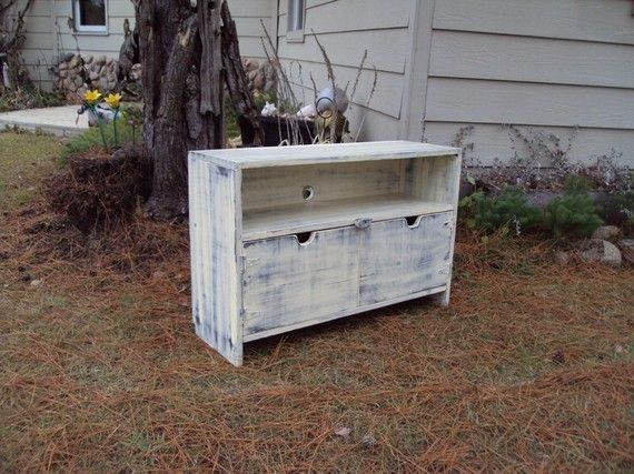 36 Inch Wide Storage Bench Tv Cabinet Shabby Chic By Usacreations 225 00 Storage Bench Reclaimed Wood Storage