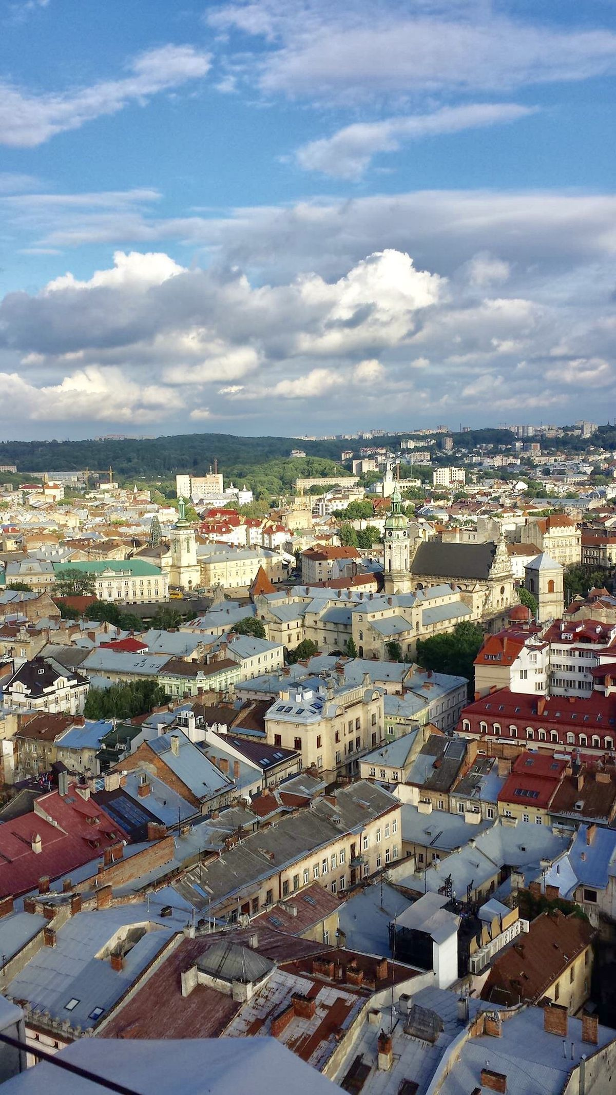 View From A Rooftop Restaurant In Lviv Ukraine