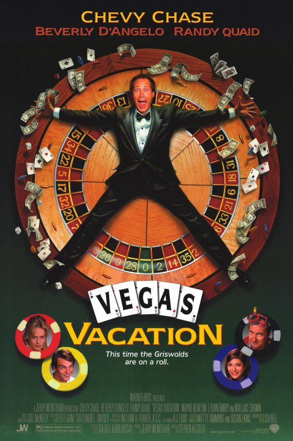 Chevy Chase Randy Quaid Signed Vegas: Vegas Vacation , Starring Chevy Chase, Beverly D'Angelo