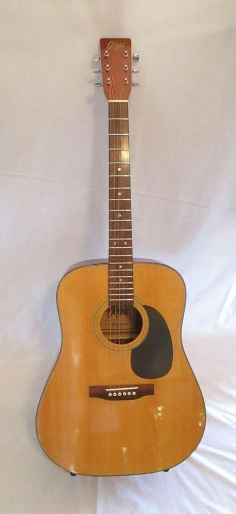 Goya Acoustic Guitar By C F Martin G300n Vintage Excellent Condition Guitar Acoustic Guitar Acoustic