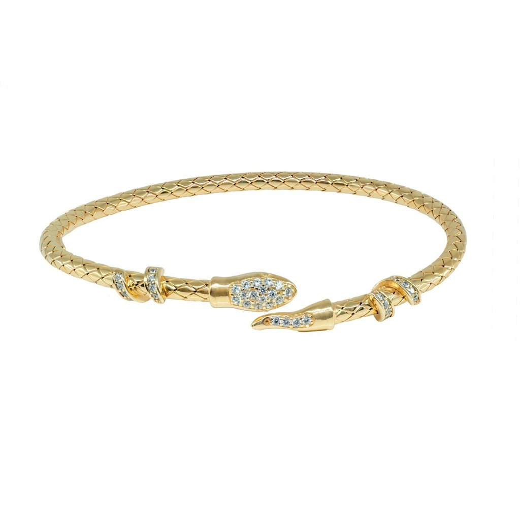 Sparkling golden snake head bangle snake and products