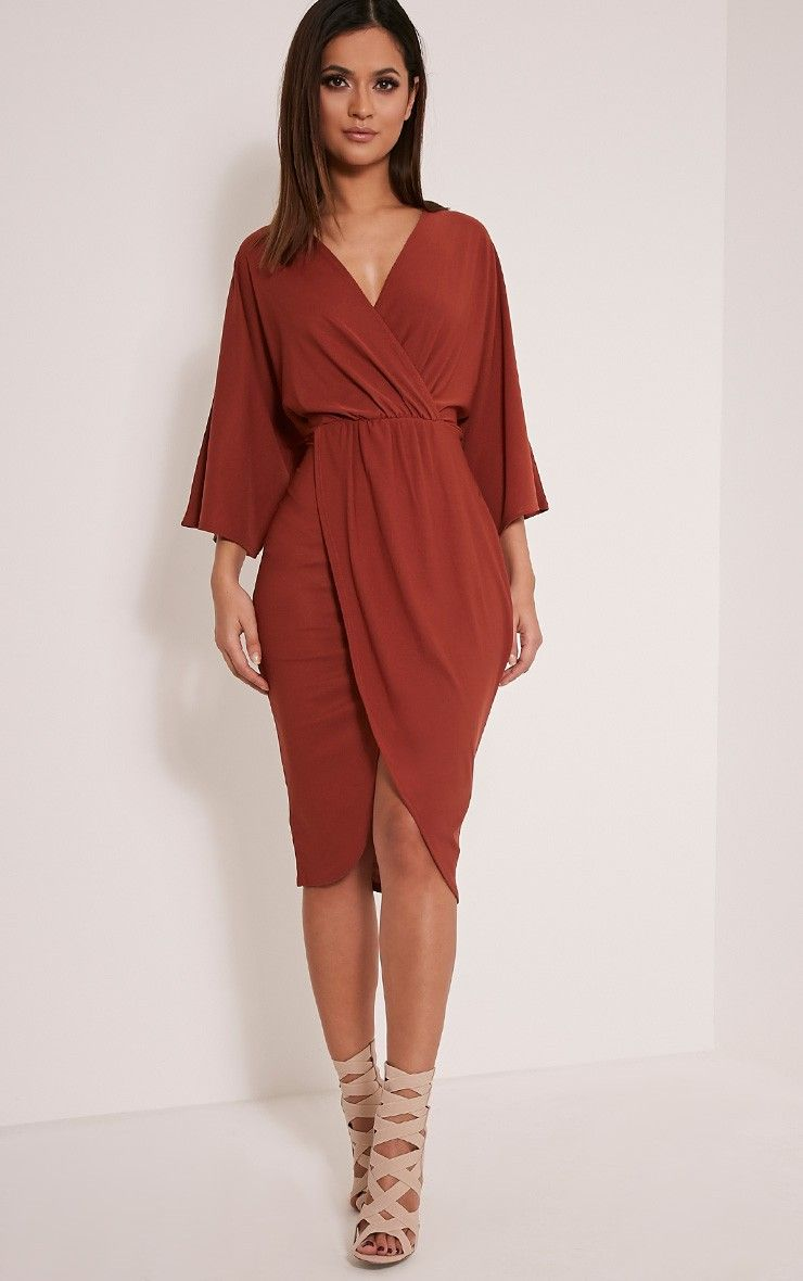 Archer Tobacco Cape Midi Dress | WARDROBE✨ | Pinterest