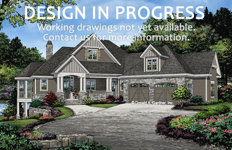 The Wesley House Plan 1467 D Is Now In Progress 2528 Sq Ft 3 Beds 2 5 Baths This Stone House Plans Craftsman Style House Plans Lake Front House Plans