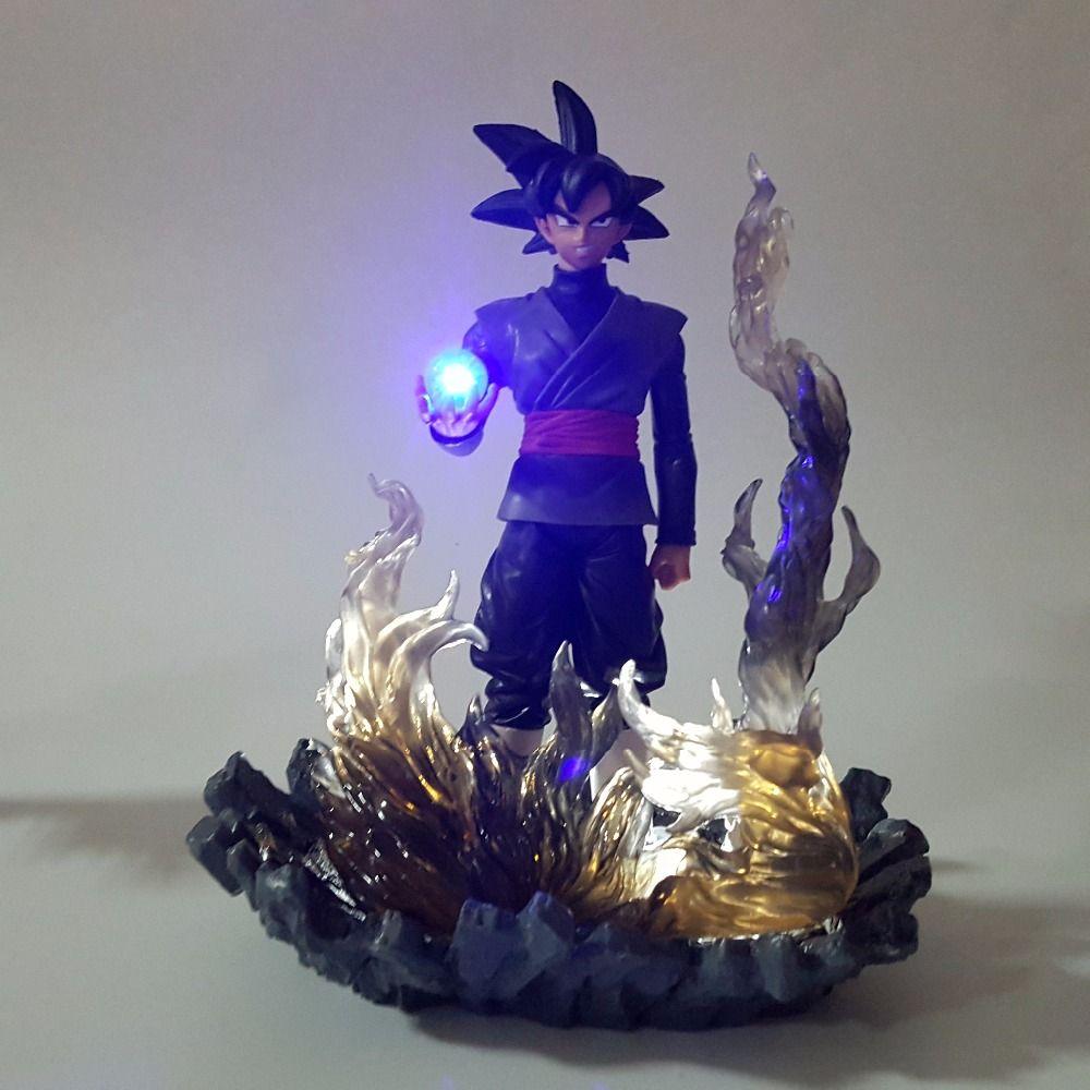 Led Lamps Dragon Ball Black Goku Zamasu Led Light Dragon Ball Action Figures Anime 150mm Super Saiyan Son Goku Led Lighting Lamp Dbz Lights & Lighting