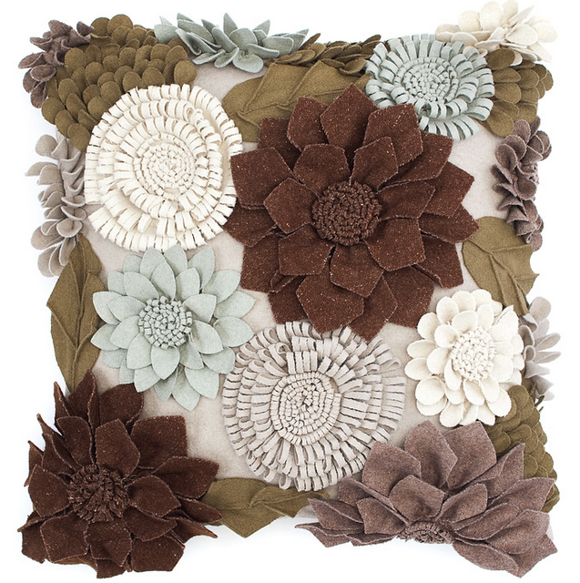 How Cool Is This Flower Pillow Z Gallerie But