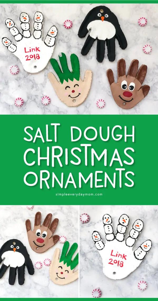 Salt Dough Handprint Christmas Ornaments Diy Christmas Ornaments Easy Salt Dough Christmas Ornaments Christmas Crafts Decorations