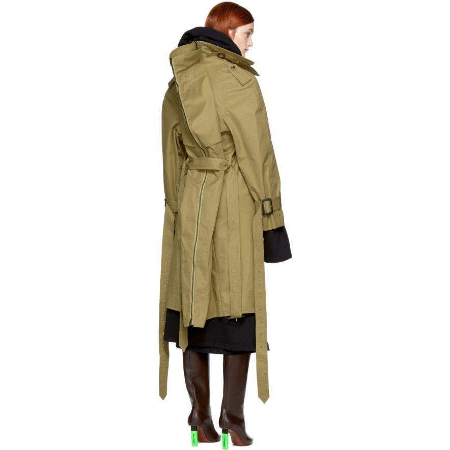 Vetements - Beige Mackintosh Edition Parisienne Shrunk Oversized Trench Coat