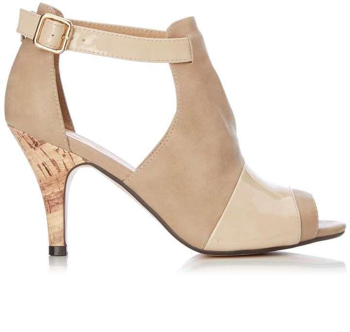 Stone Vamp Peep Toe Sandals
