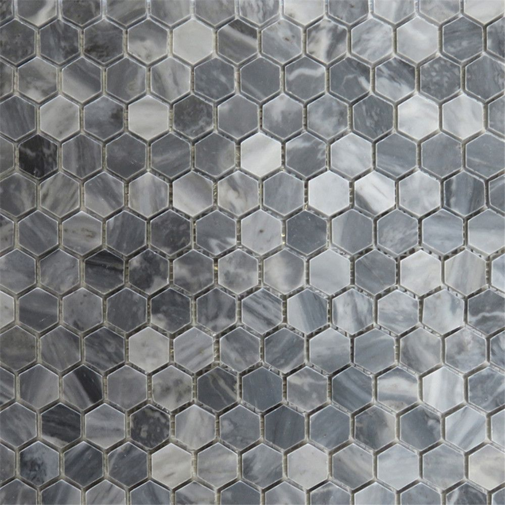 Bardiglio Gray 1 Inch Hexagon Mosaic Tile Polished Marble From Italy In 2020 Hexagonal Mosaic Hexagon Mosaic Tile Mosaic Tiles