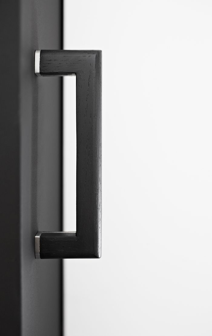 Two - Piet Boon by FORMANI HARDWARE - Solid pull handle in black oak ...