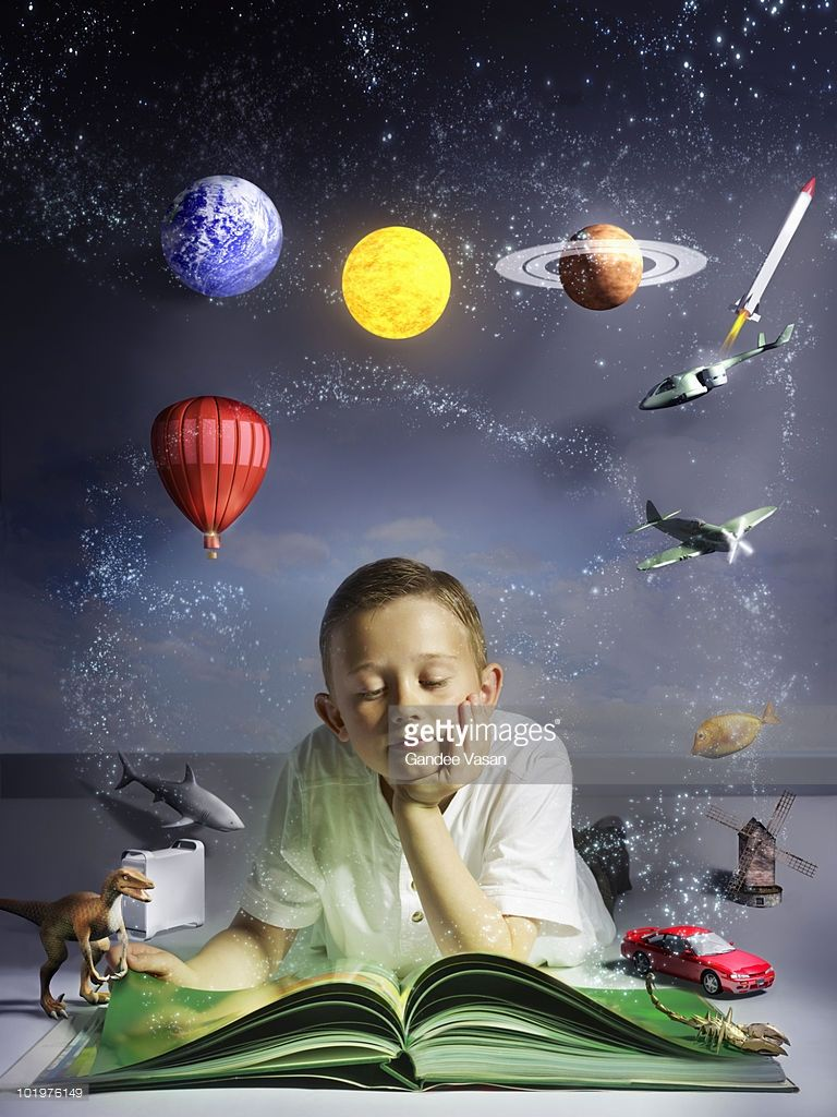 10 Year Old Child Reading Large Book With Subjects From His Book Kids Reading Books Kids Reading Books