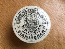 Rare Hedges Birmingham Pictorial Cold Cream Pot Lid c1890's