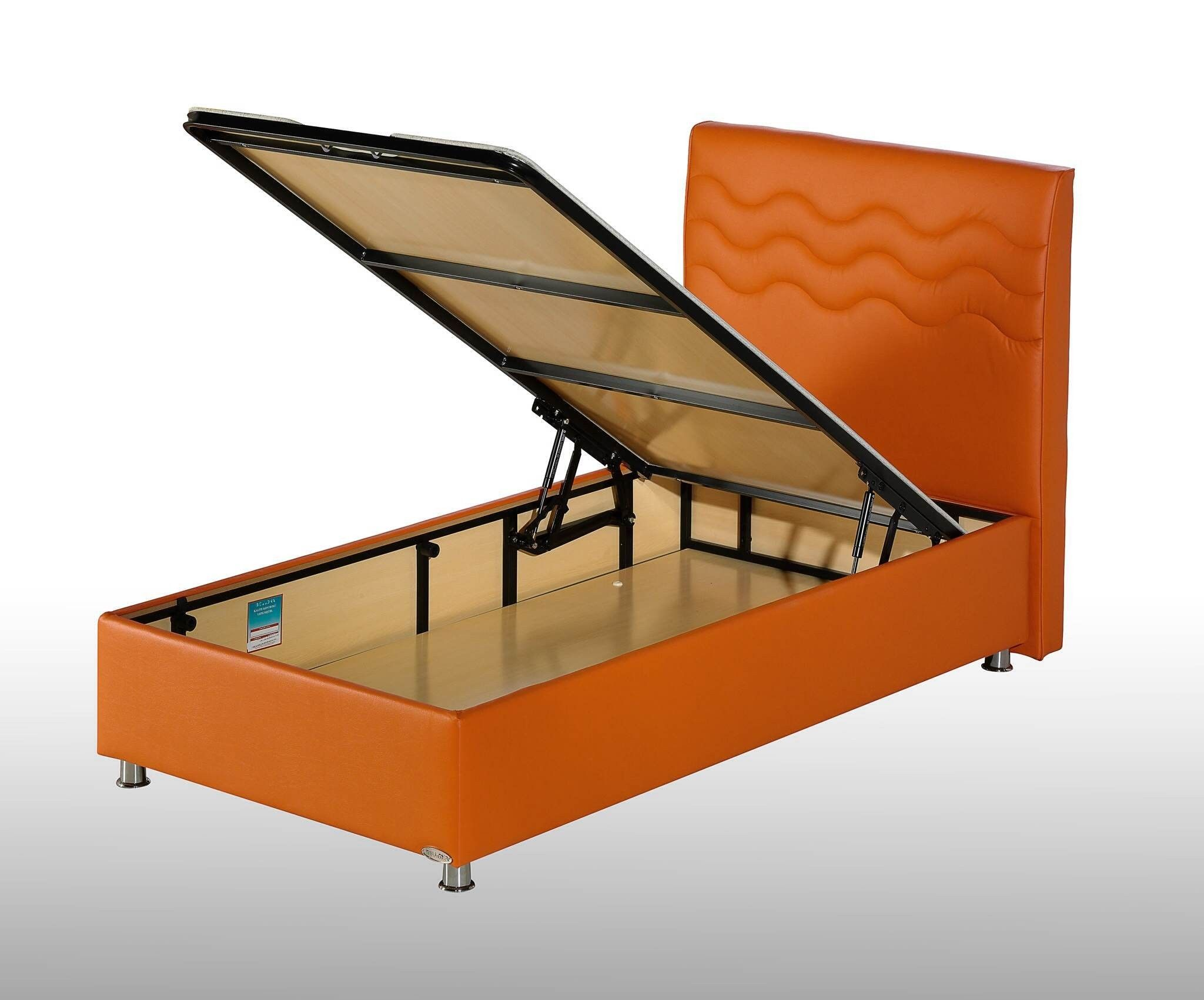 Furniture Bedroom Twin Size Extra Long Bed Frame With Orange