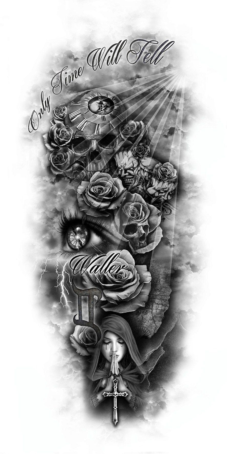 Columbus Custom Tattoo Designs: Tatueringsdesigner, Döskalletatueringar