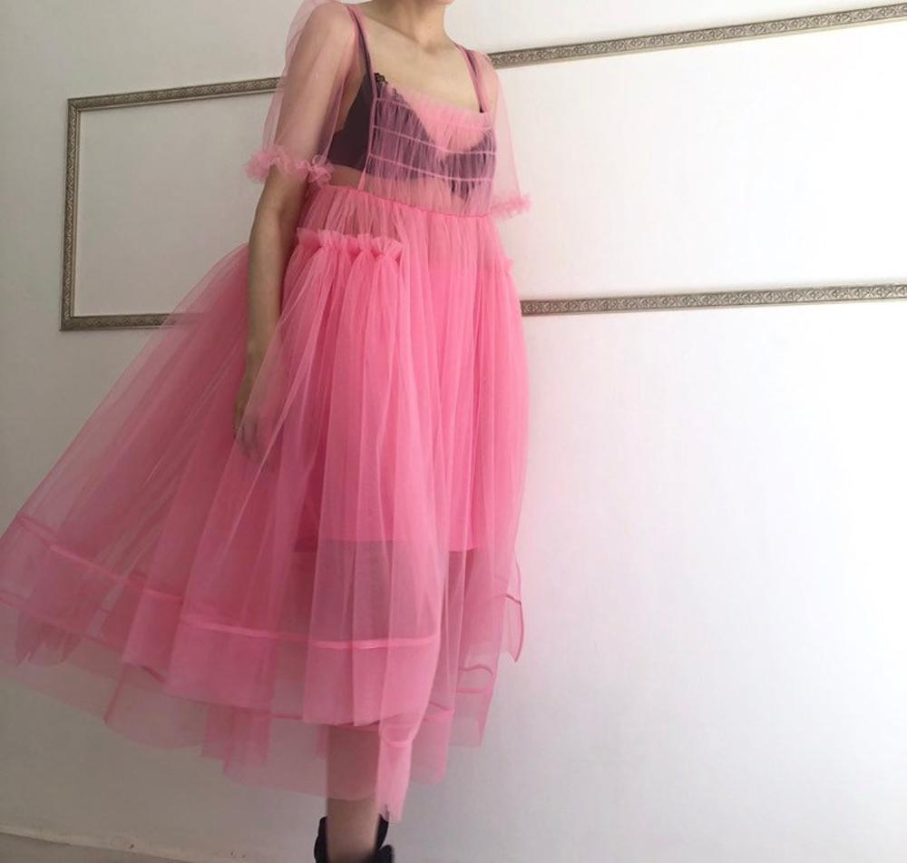 Pink Tulle Dress Midi Sheer Dress Ruffled Mesh Dress Hight Etsy In 2021 Pink Tulle Dress Tulle Dress Diy Mesh Dress Diy [ 951 x 1000 Pixel ]