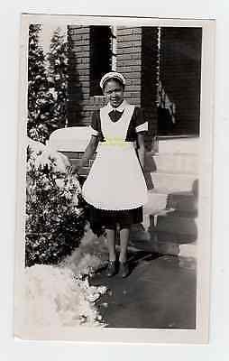 Vtg 1938 Black Maid Photo jim crow Americana African Servant woman negro colored