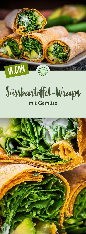 Süsskartoffel-Wraps mit Gemüse – Carey&CleanEatingS