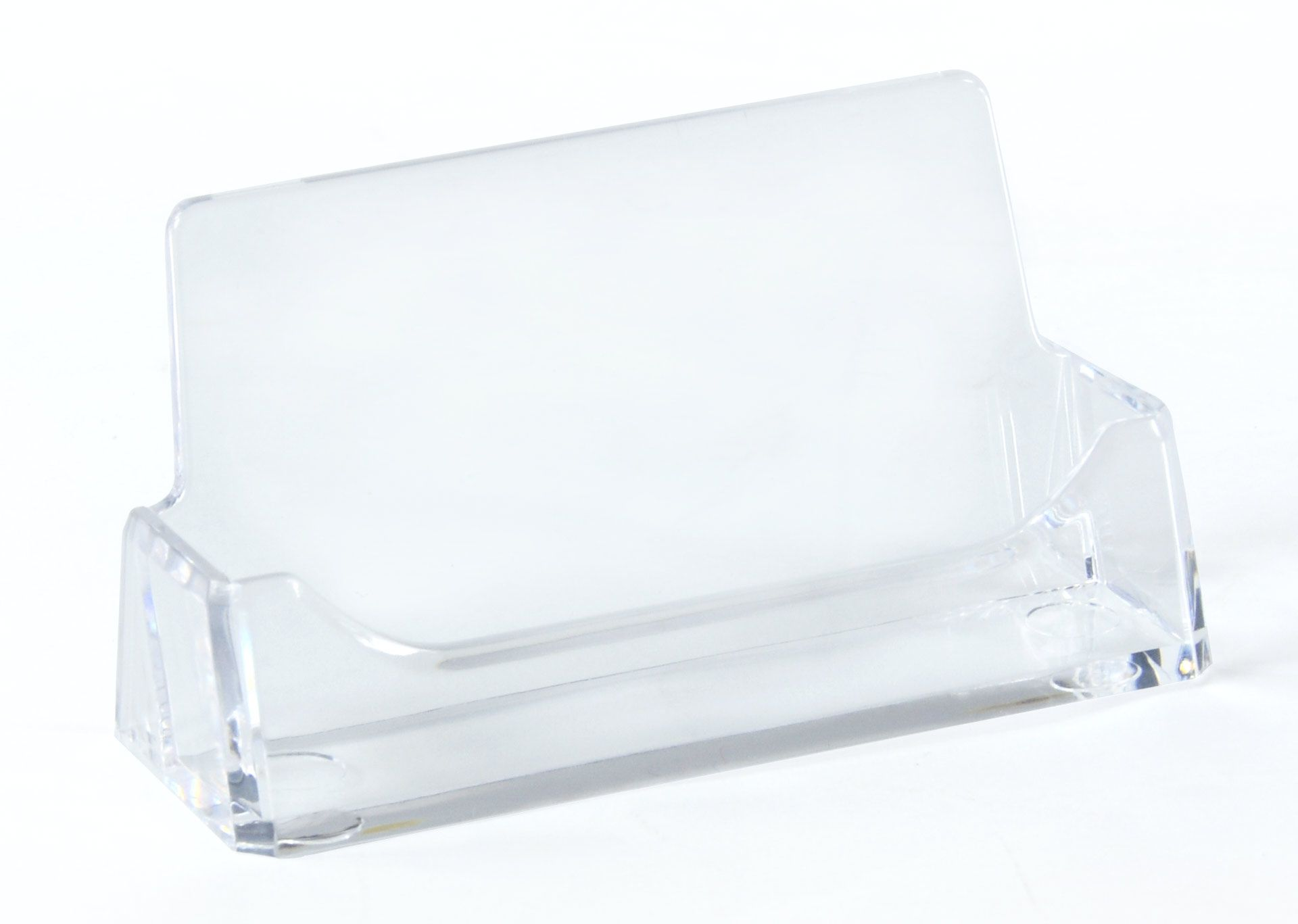 Single Pocket Acrylic Business Card Holder For Tabletop Fits 49 Cards Clear In 2021 Business Card Holders Gift Card Displays Acrylic Designs
