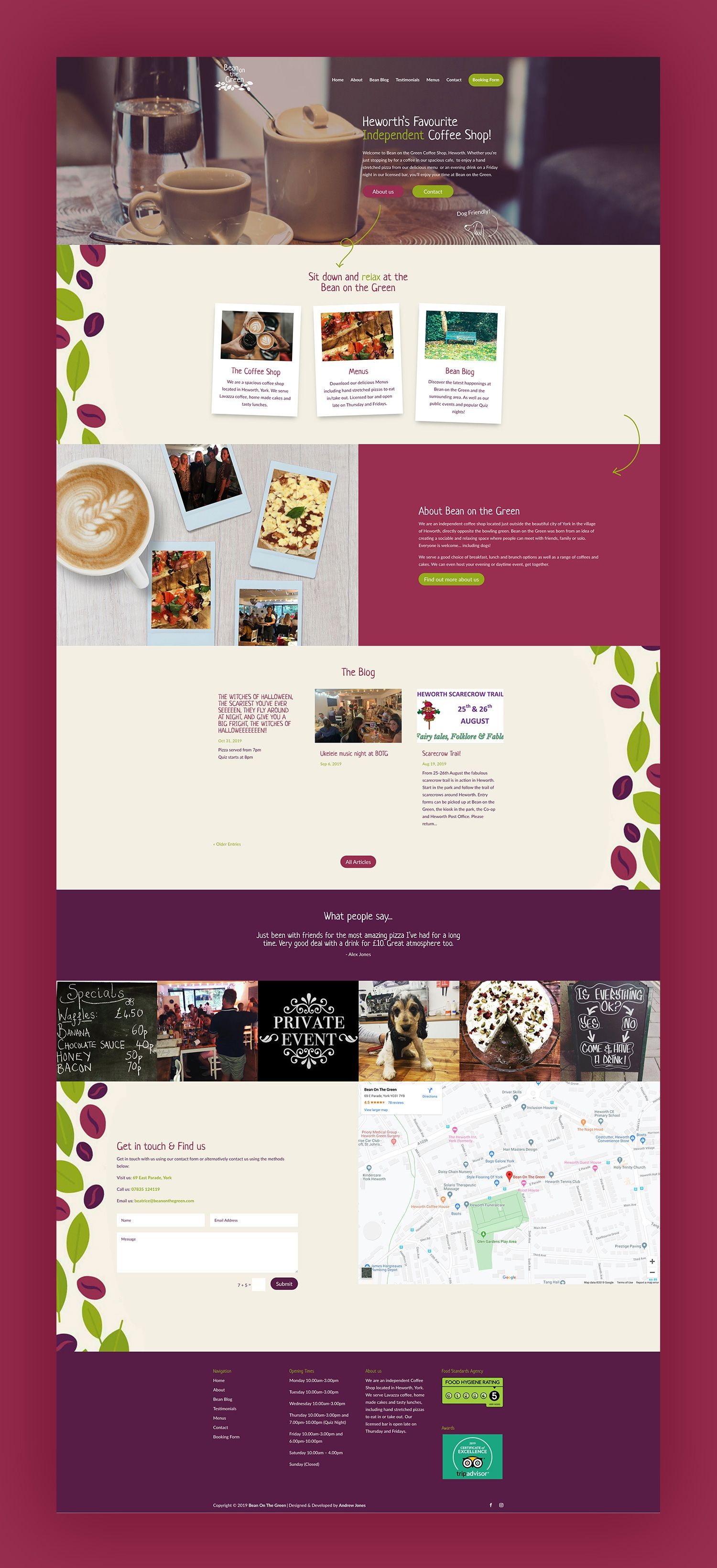 12 Examples Of Restaurant Cafe Websites Created With Divi Web Cafe Restaurant Cafe