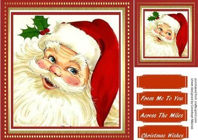 Lovely Jolly Santas  on Craftsuprint - Add To Basket!