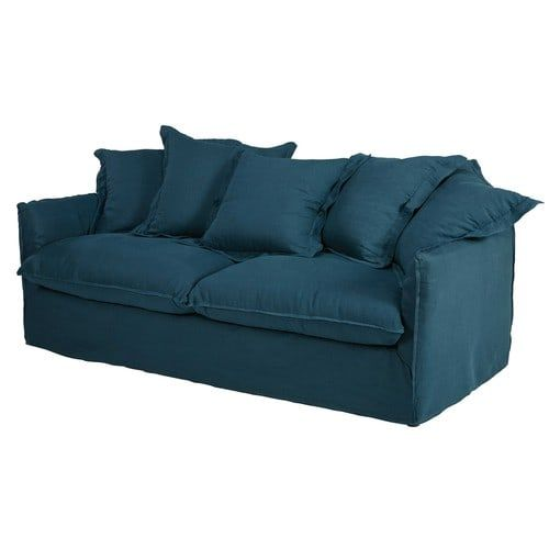 Canapés Droits Sofa Linen Sofa Chesterfield Sofa