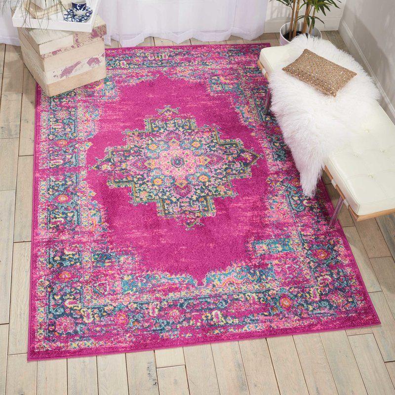Dorset Oriental Fuchsia Indoor Area Rug | Oriental, Living rooms and ...