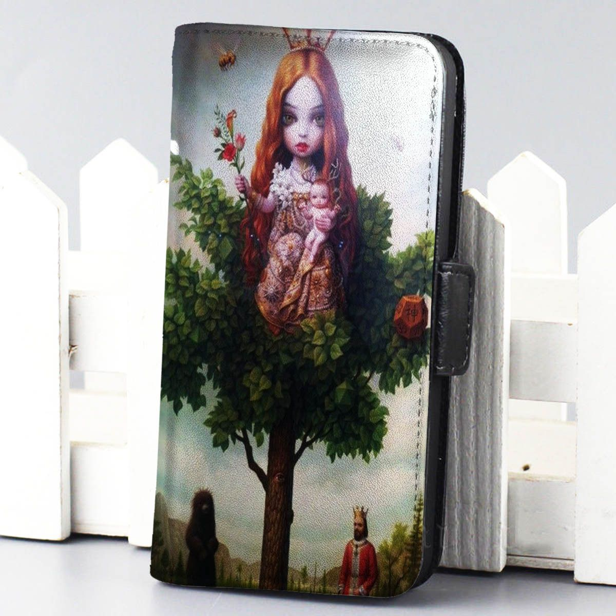 Mark Ryden wallet case for iphone 4,4s,5,5s,5c,6 and samsung galaxy s3,s4,s5 - LSNCONECALL.COM