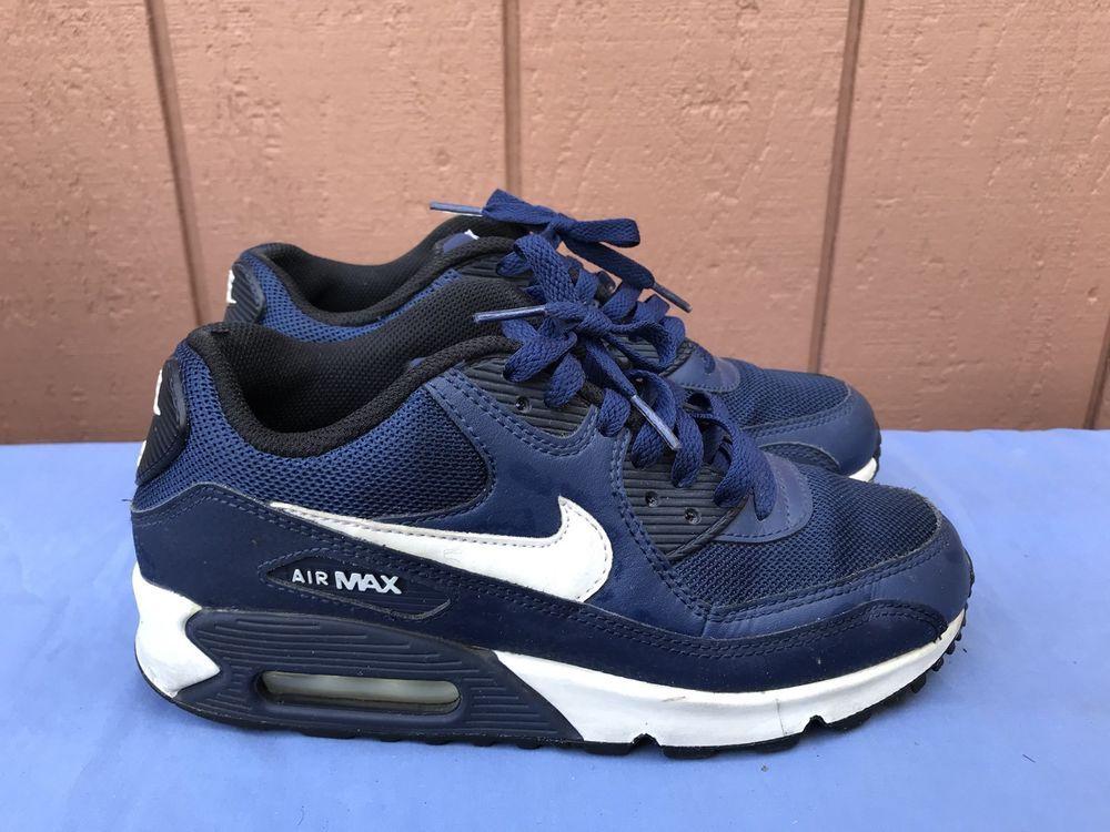 EUC Nike Air Max 90 Mesh GS US 5.5Y EUR 38 Sneaker Blue
