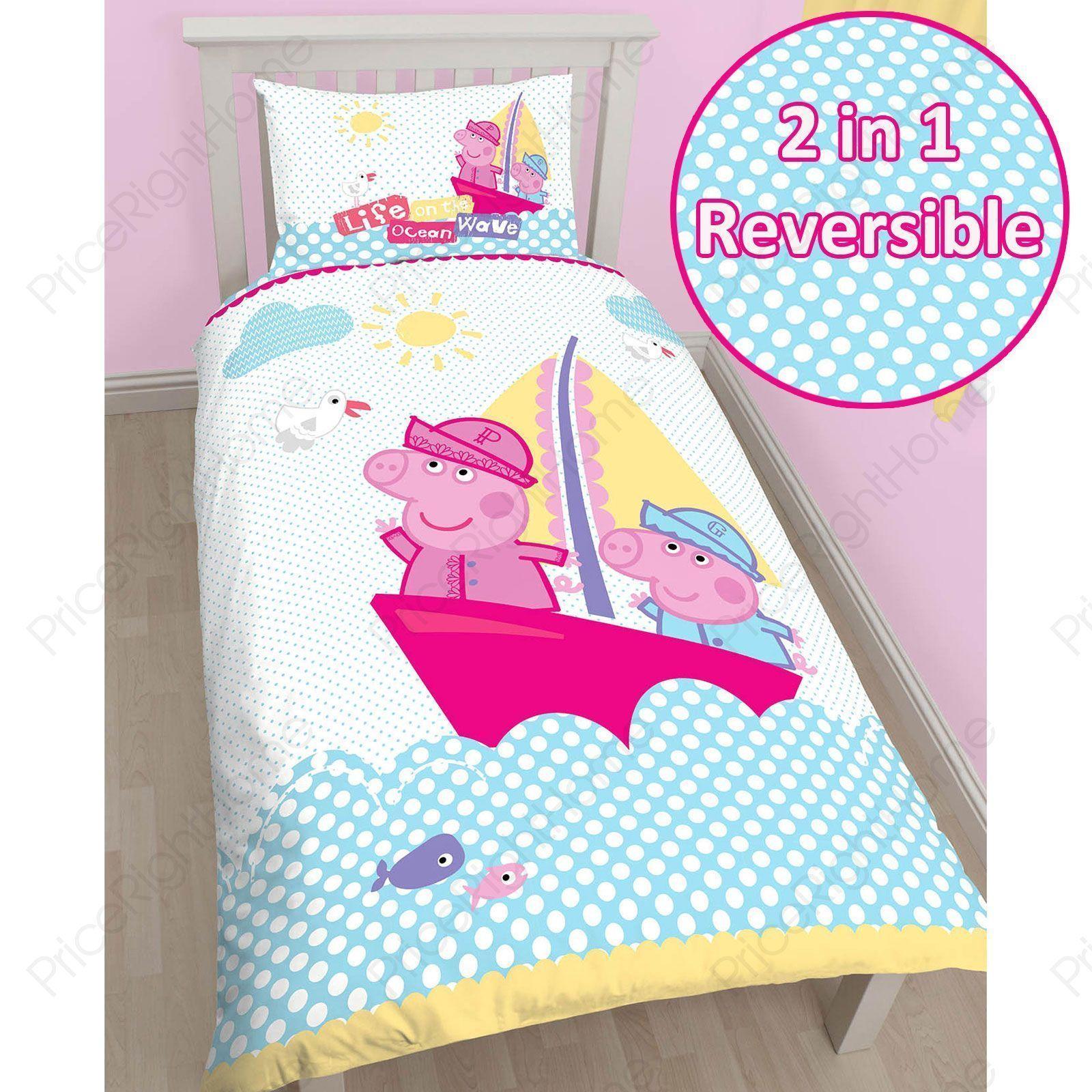 Peppa Pig & 'Nautical' Single Duvet Cover Set (With