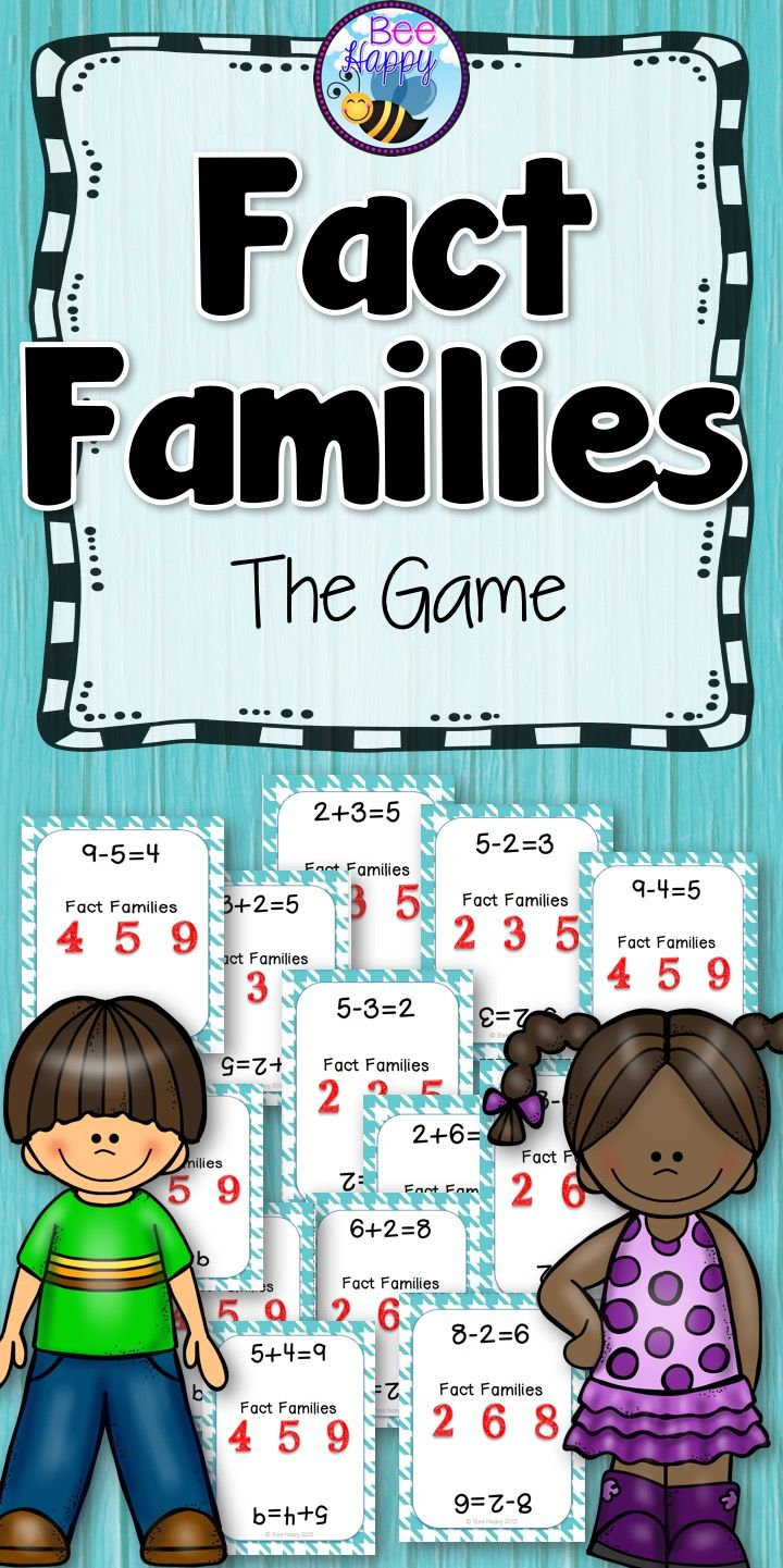Fact Families - The Game | Fact families, Math and Elementary math