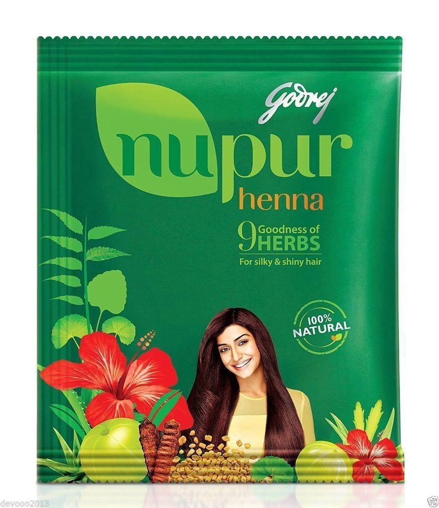 Godrej Nupur Henna Mehndi Mehendi Powder, 9 Herbs Blend, Hair Dye ...