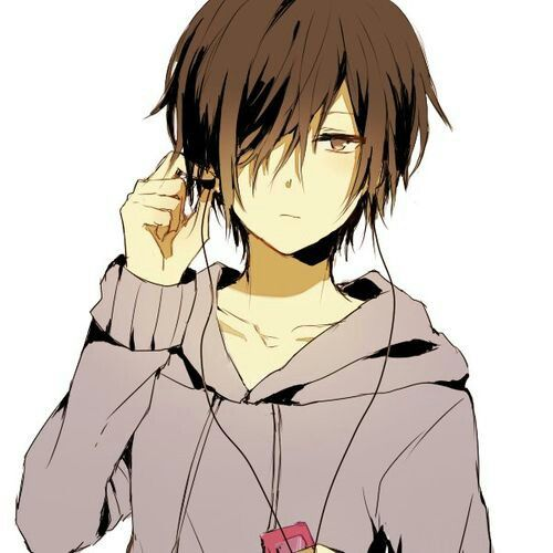 Anime Boy With Messy Brown Hair Cute Anime Boy Anime Boy With Headphones Anime Boy