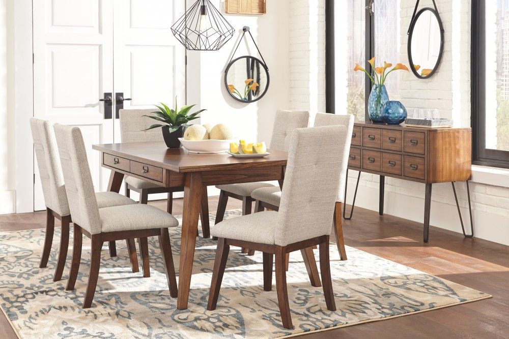 Centiar Two Tone Brown Rectangular Dining Room Table Rectangular Dining Room Table Dining Room Decor Dining Table