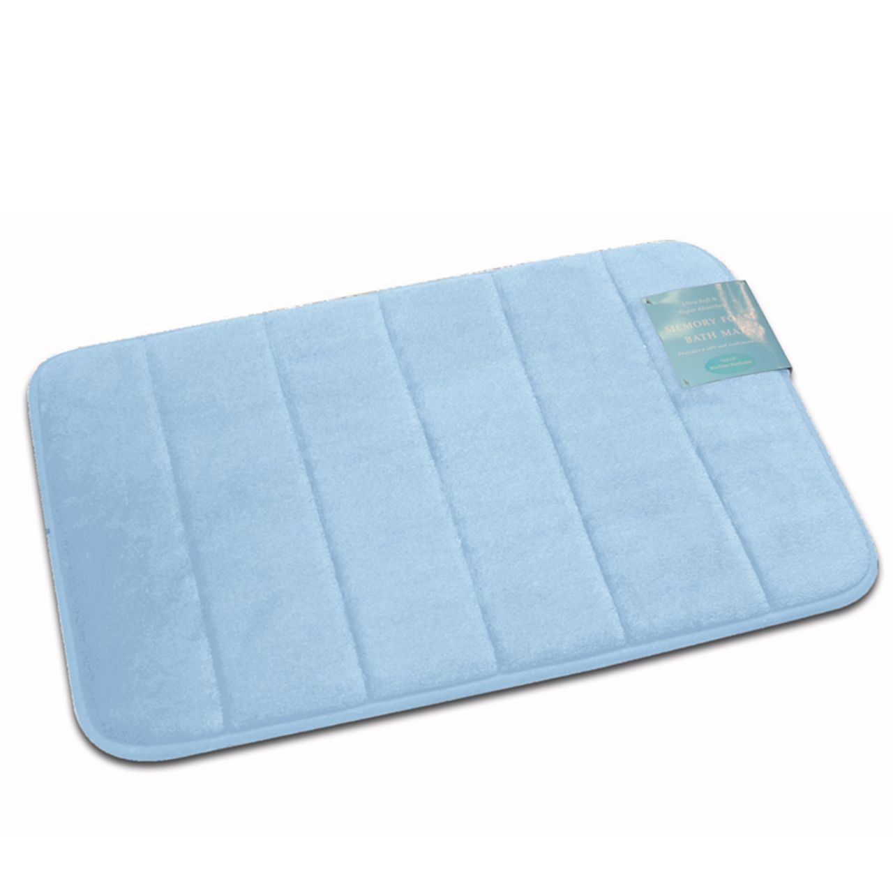 Memory Foam Bath Mat Foam Ultra Plush Rug Non Slip Back 16x24 In