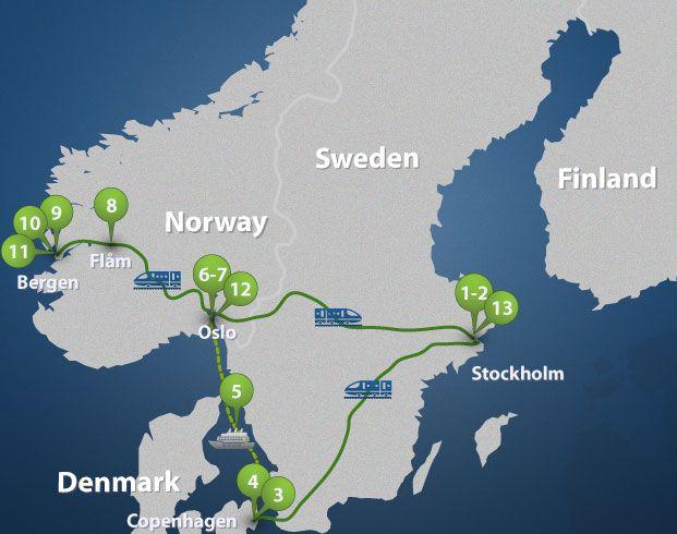 Scenic Circle Of Scandinavia Train And Cruise Sweden Travel Scandinavia Sweden