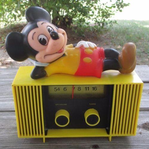 Mickey Mouse Collectibles Vintage Radio Vintage Mickey Mouse Antique Radio