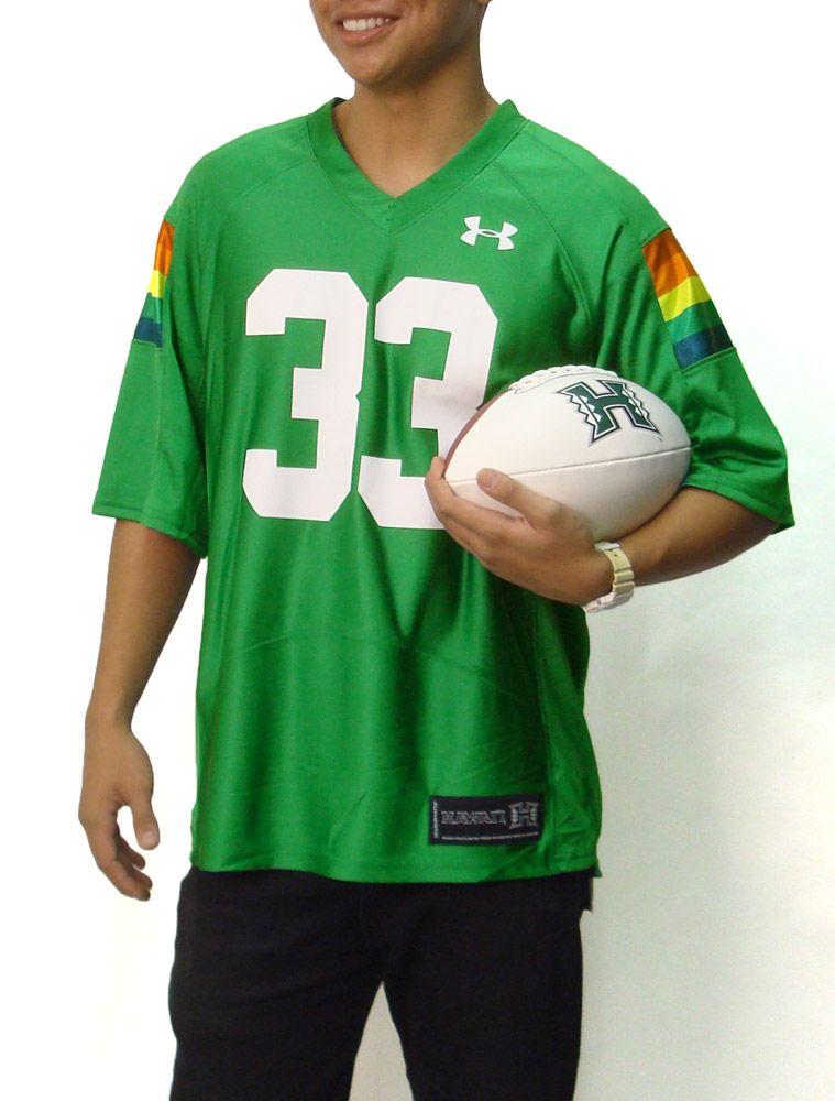 University Of Hawaii Rainbow Warriors Football Under Armour Vintage 33 Jersey 75 00 Rainbow Warrior Hawaii Rainbow Warriors Warriors Football