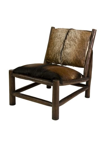 Imax Corporation Pacino Animal Hide Accent Chair In Brown