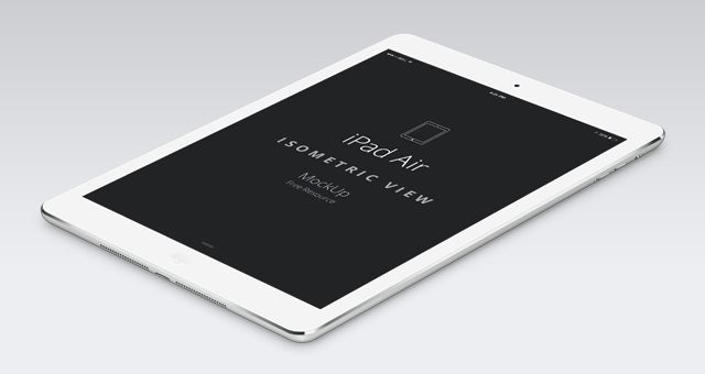 Psd ipad air perspective mockup web development and more this is the perspective version of our psd ipad air vector mockup template with a white silver ipad air and a black space gray ipad air mockup pronofoot35fo Gallery